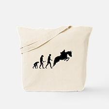 Male Horseback Rider Evolution Tote Bag