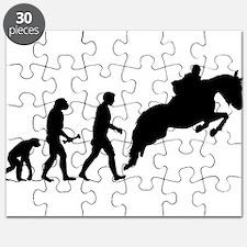 Male Horseback Rider Evolution Puzzle