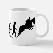 Male Horseback Rider Evolution Mugs