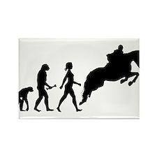 Female Horseback Rider Evolution Magnets