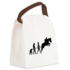 Female Horseback Rider Evolution Canvas Lunch Bag