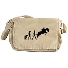 Female Horseback Rider Evolution Messenger Bag