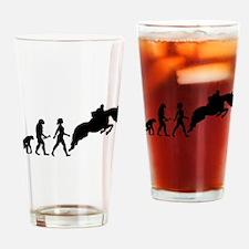 Female Horseback Rider Evolution Drinking Glass