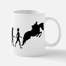 Female Horseback Rider Evolution Mugs