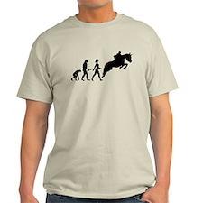 Female Horseback Rider Evolution T-Shirt
