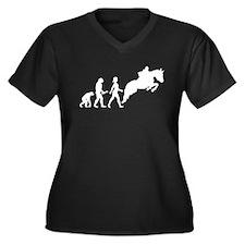 Female Horseback Rider Evolution Plus Size T-Shirt