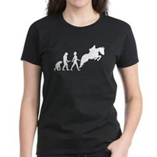 Female Horseback Rider Evolution T-Shirt