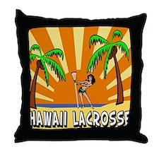 Lacrosse Hawaii Throw Pillow