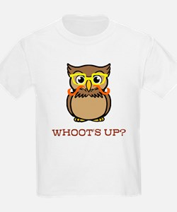 Mustache Owl with Glasses T-Shirt