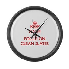Funny Clear conscience Large Wall Clock