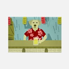 Yellow Labrador Retriever Tiki Bar Magnet