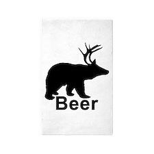 Beer Hunter. 3'x5' Area Rug