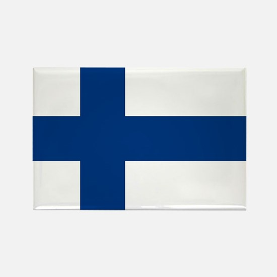 Finland Flag Rectangle Magnet