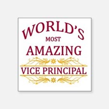 """Vice Principal Square Sticker 3"""" x 3"""""""