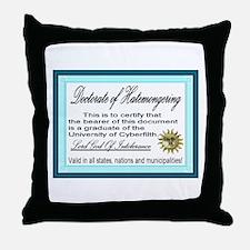Doctorate of Hatemongering Throw Pillow