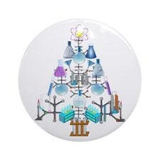Cute Chemistry Ornament (Round)