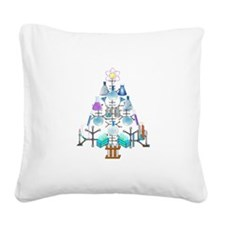 Cute Christmas tree Square Canvas Pillow
