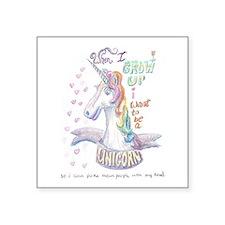 Unicorn when I Grow Up Sticker