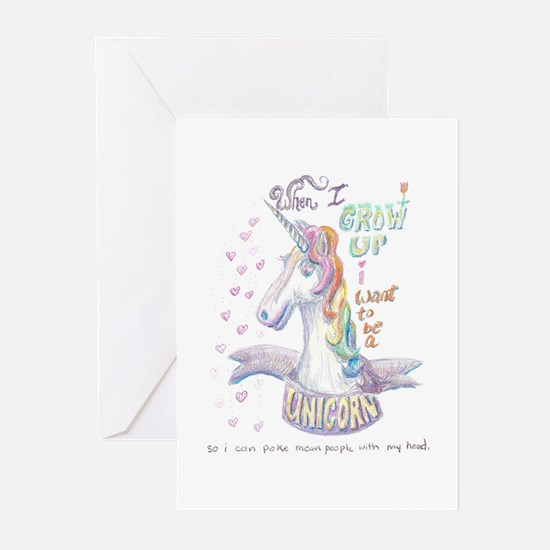 Unicorn when I Grow Up Greeting Cards