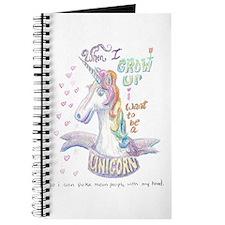 Unicorn when I Grow Up Journal