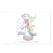 Unicorn when I Grow Up Postcards (Package of 8)