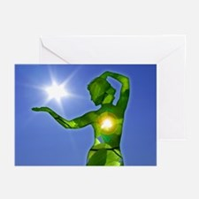 Light of the Jungle Woman, 10 greeting cards