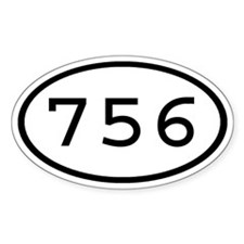 756 Oval Oval Decal