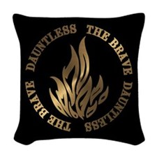 Dauntless The Brave Woven Throw Pillow