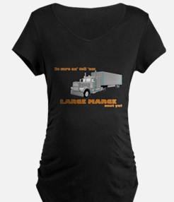 Large Marge dark design Maternity T-Shirt