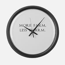 More Farm, Less Pharm Large Wall Clock