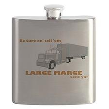 Large Marge Dark Design Flask