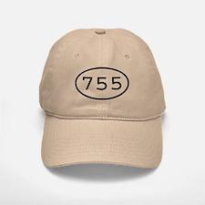 755 Oval Baseball Baseball Cap