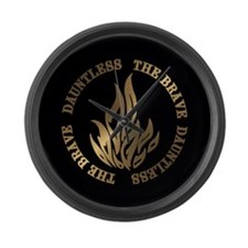 Dauntless The Brave Large Wall Clock