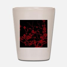 abstract zen artistic plum flower flora Shot Glass