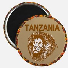 Tanzania With Lion Magnets