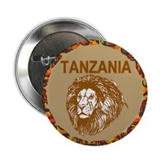 "Tanzania With Lion 2.25"" Button"