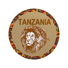 "Tanzania With Lion 3.5"" Button"