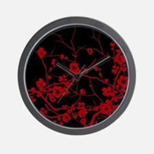 Funny Cherry blossom Wall Clock