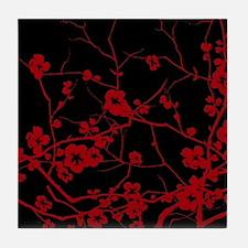 Cute Plum flower Tile Coaster