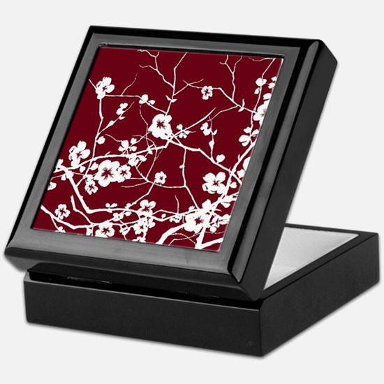 Funny Cherry blossom Keepsake Box
