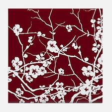 Unique Plum flower Tile Coaster