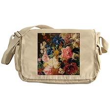 elegant vintage flowers nature flora Messenger Bag