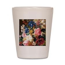 elegant vintage flowers nature floral a Shot Glass