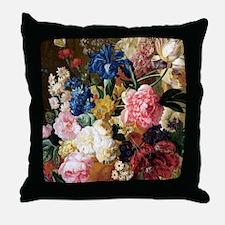 elegant vintage flowers nature floral Throw Pillow