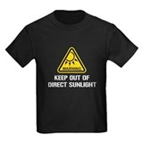 Keep out of direct sunlight Kids T-shirts (Dark)