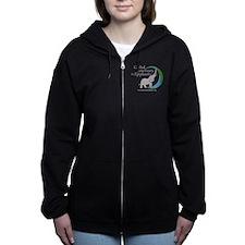 Women's Zip Hoodie With Chest Logo-Dark Colors