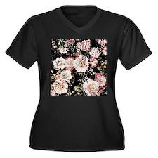 elegant vintage flowers nature floral art Plus Siz