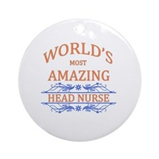 Head Nurse Round Ornament