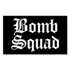 Bomb Squad Rectangle Decal