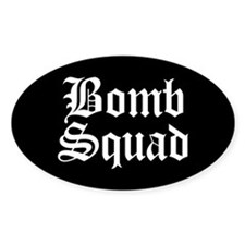 Bomb Squad Oval Decal